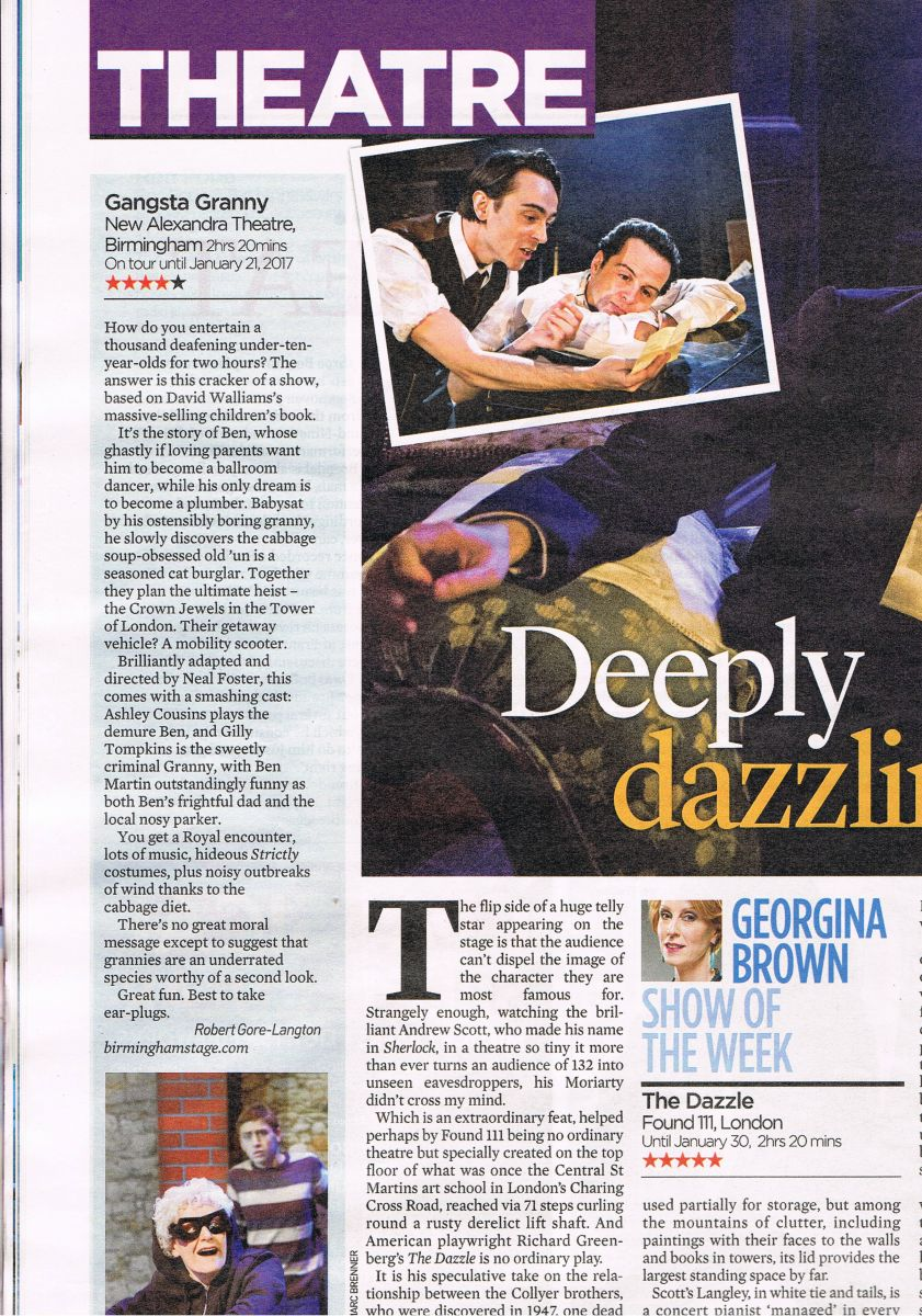 Mail on Sunday 4**** Gangsta Granny